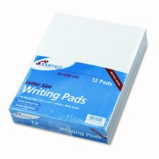 Evidence Glue Top Ruled Pads, Wide Rule, Letter, 50-Sheet Pads/Pack, 12/Pack