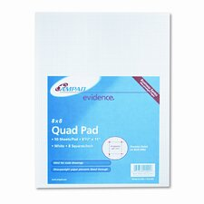 20Lb Quadrille Pad with 8 Squares/Inch, Letter, 50 Sheets/Pad