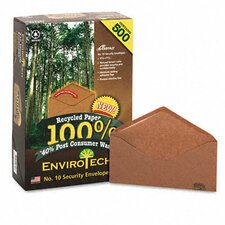 <strong>AMPAD Corporation</strong> Earthwise Envirotech Recycled Envelope, V-Flap, #10, 500/Box
