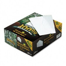 Envirotech Recycled Business Envelope, V-Flap, #10, 500/Box