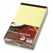 Gold Fibre Writing Pads, Legal/Wide Ruled, Legal, Canary, 50 Sheets, 12-Pack