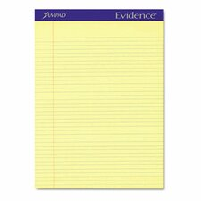 <strong>AMPAD Corporation</strong> Evidence Perf Top, Narrow Rule, Letter, 50-Sheet Pads, 12/Pack