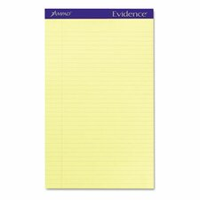 Evidence Perf Top, Legal Rule, Legal, 12 50-Sheet Pads/Pack
