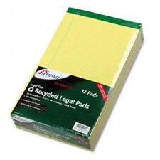 <strong>AMPAD Corporation</strong> Evidence Recycled Perf Top, Legal/Margin Rule, Legal, 50-Sheet Pad, 12/Pack