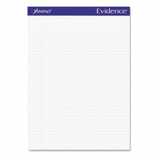 Evidence Perf Top, Narrow Rule, Letter, 50-Sheet, 12/Pack