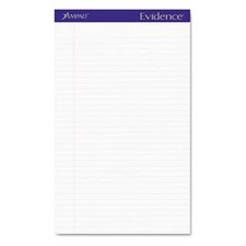 Evidence Perf Top, Legal Rule, Legal, 50-Sheet Pads/Pack, 12/Pack