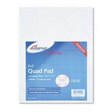 20lb Quadrille Pad with 5 Squares/Inch, Letter, White, 50 Sheets