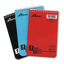 Wirebound Pocket Memo Book, Narrow Rule, 4 X 6, 40-Sheet, 3/Pack