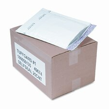 Jiffy TuffGard Self-Seal Cushioned Mailer, Side Seam, #1, White, 25/carton