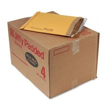 Jiffy Padded Self-Seal Mailer, Side Seam, #4, Golden Brown, 100/carton