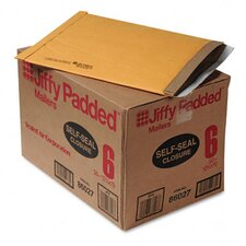 Jiffy Padded Self-Seal Mailer, Side Seam, #6, Golden Brown, 50/carton