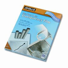 Plain Paper Copier Transparency Film, Letter, 100/Box