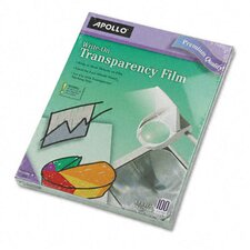 Write-On Transparency Film, Letter, 100/Box