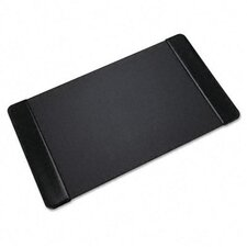 Executive Desk Pad with Leather-Like Side Panels, 36 X 20