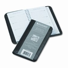 Executive Weekly Pocket Planner, Ruled, No Appointment Times, 3-1/4 x 6-1/4, 2014