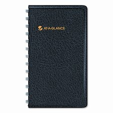 Weekly Planner, Shirt Pocket Size, 2-1/2 x 4-1/2, Black, 2015