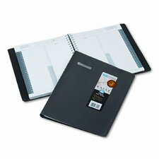 24/7 Daily Appointment Book, 8-1/2 x 11, Black, 2014