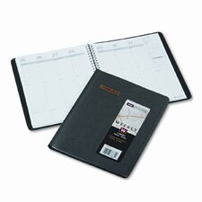 Weekly Appointment Book, Seven-Day Hourly Ruling, 6-7/8 x 8-3/4, Black, 2013