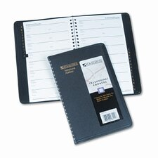 Classic Telephone/Address Book, Wirebound, 4-7/8 x 8, Black, 2012