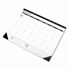 One-Color Monthly Desk Pad/Wall Calendar, 24 x 19, 2013