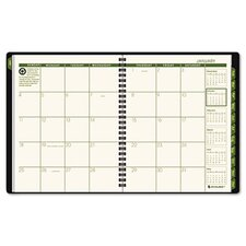 Recycled Classic Monthly Large Desk Planner, 12 Months (Jan-Dec), Green Cover, 2014