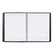 <strong>At-A-Glance</strong> Unruled Monthly Planner, 8 x 10, Black, 2014