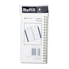 Weekly Appointment Book Refill, Hourly Ruled, 3-1/4 x 6-1/4, 2013
