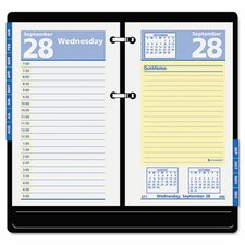 QuickNotes Two-Color Daily Desk Calendar Refill, 3-1/2w x 6h, 2013