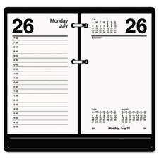 One-Color Daily Desk Calendar Refill, Recycled Paper, 3-1/2w x 6h, 2013