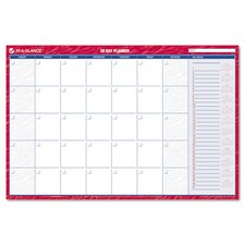 Reversible/Erasable Undated Monthly/Dated Yearly Wall Calendar, 36 x 24, 2013