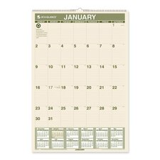 <strong>At-A-Glance</strong> Recycled Monthly Wall Calendar, 15-1/2 x 22-3/4, 2014
