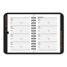 "Telephone/Address Book, Wirebound, 3-3/4""x6-1/8"", Black, 2012"