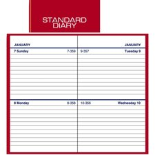 "<strong>At-A-Glance</strong> Standard Business Diary, 2 Days/Page, 2-3/4""x4-5/8"", Red, 2013"