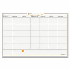 WallMates Self-Adhesive Dry-Erase Monthly Planning Surface White Board