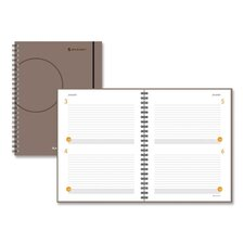 Two Days Per Page Planning Notebook, 8-1/2 x 11, Gray, 2012