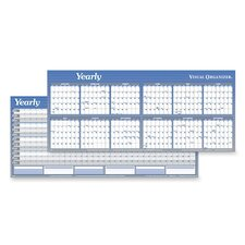 Horizontal Yearly Erasable Wall Planner