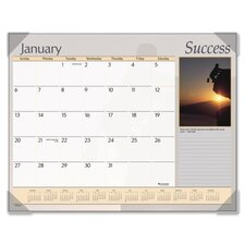 Inspirational Color Photographic Monthly Desk Pad Calendar, 22 x 17
