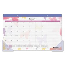 Watercolors Compact Monthly Desk Pad