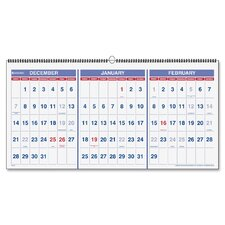 Horizontal Wall Calendar