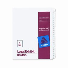 Allstate-Style Legal Size Tab Dividers, 25-Tab, 126-150 Tab Title (Set of 25)