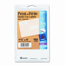 Print or Write Removable Multi-Use Labels, 1-1/2 X 4, 150/Pack
