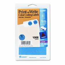 Print or Write Removable Color-Coding Labels, 1008/Pack