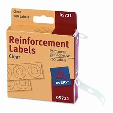 Dispenser Pack Hole Reinforcements, 200/Pack