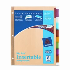 Worksaver Big Tab Reinforced Dividers with Multicolor Tabs (5 Tabs)