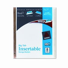 Worksaver Big Tab Dividers with Clear Tabs (8 Tabs)