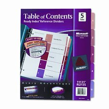 Ready Index Contemporary Table of Contents Divider (5 Tabs)