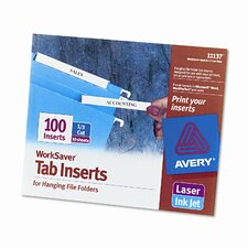 Laser/Inkjet Hanging File Folder Inserts (100/Pack)