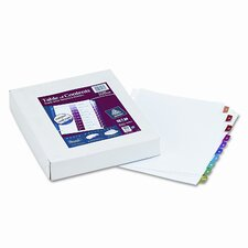 Ready Index Table/Contents Dividers (10 Tabs, 24 Sets/Box)