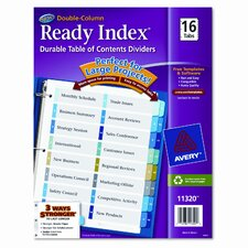 Ready Index Two-Column Table of Contents Divider (16 Tabs)