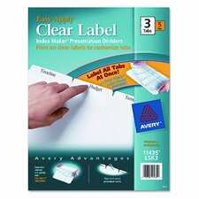 Index Maker Clear Label Dividers (3 Tabs, 5 Sets/Pack)